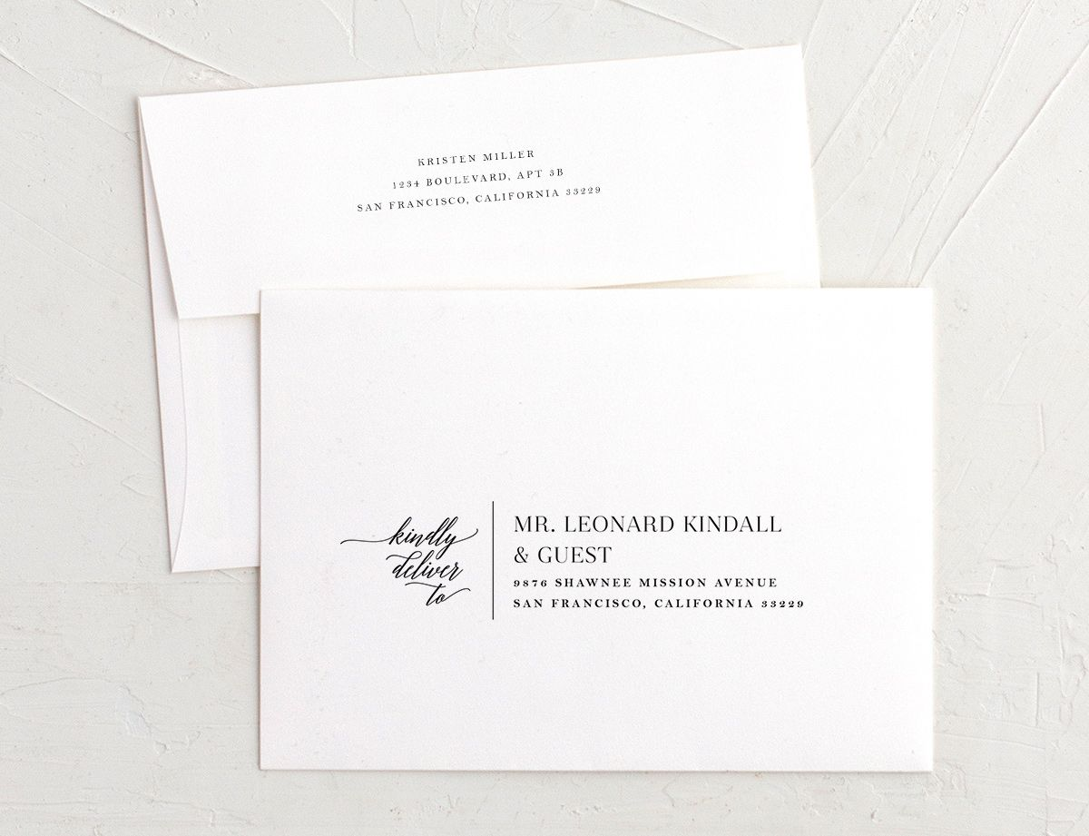 Painted Minimal recipient address printing