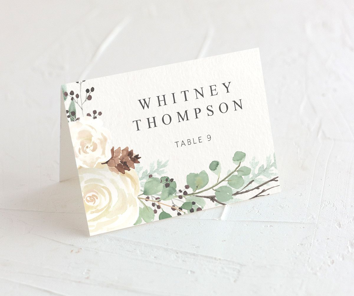 Rustic Botanical Place Cards