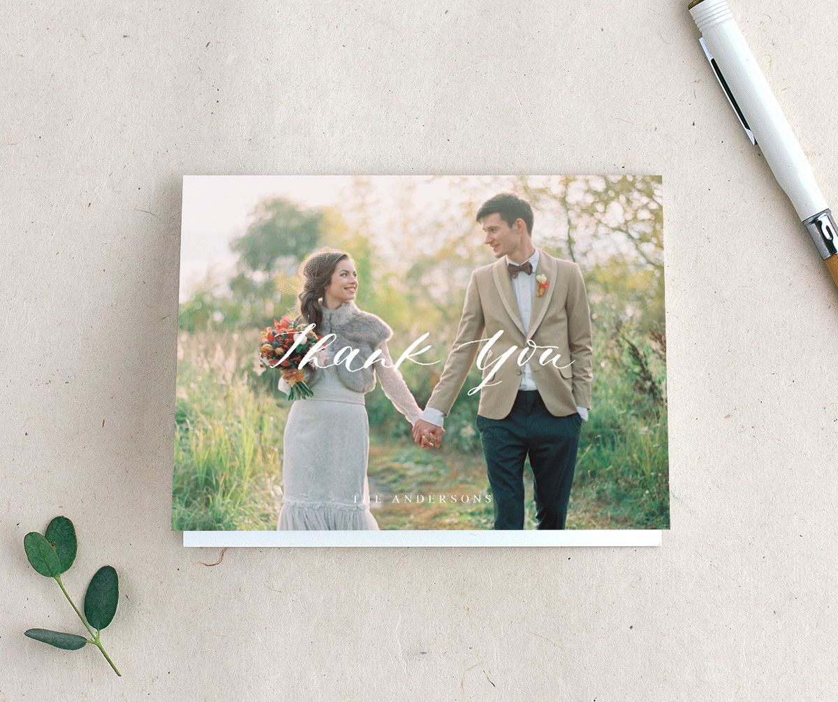 Rustic Botanical Personalized Wedding Thank You Cards