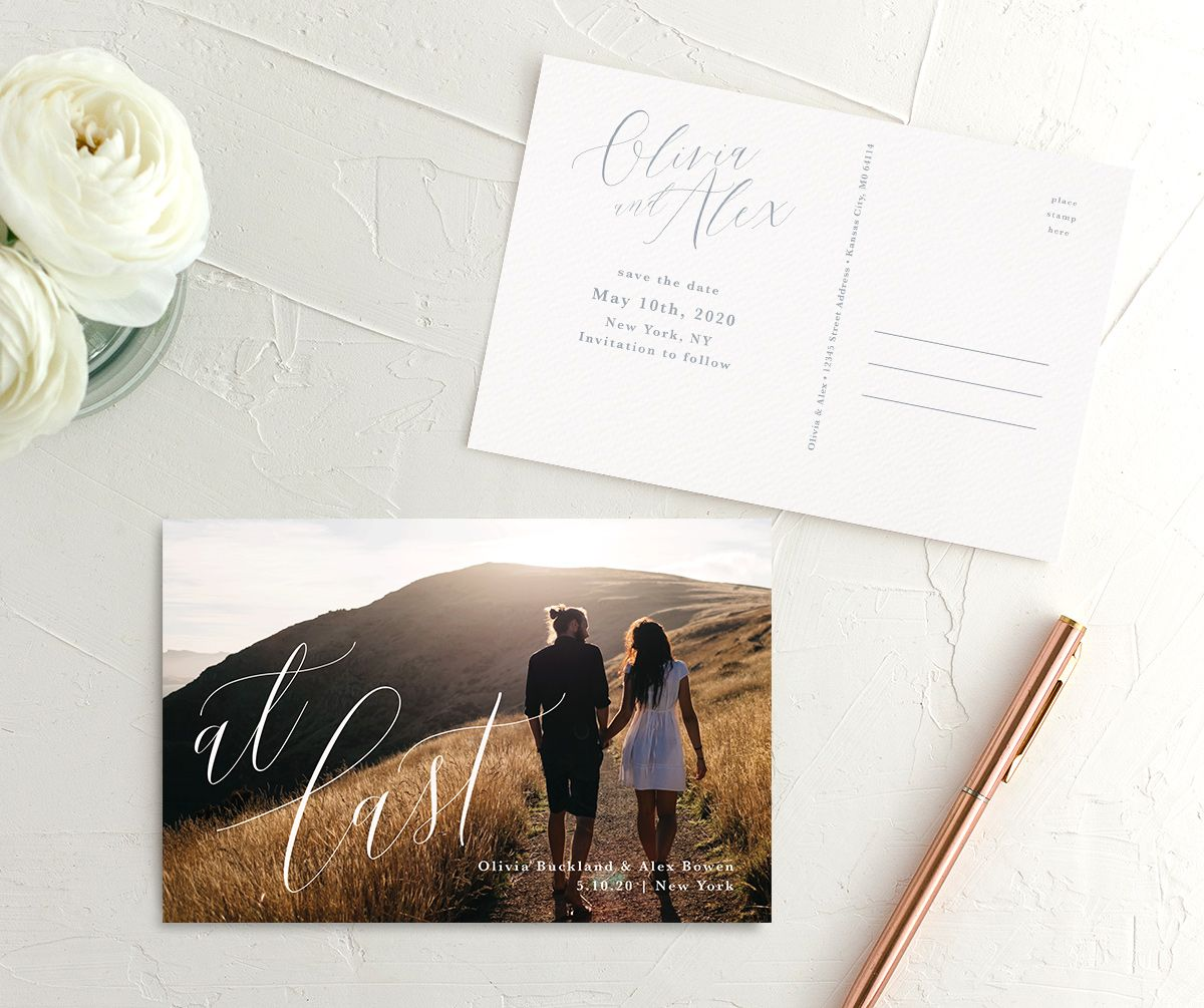 At Last save the date postcards