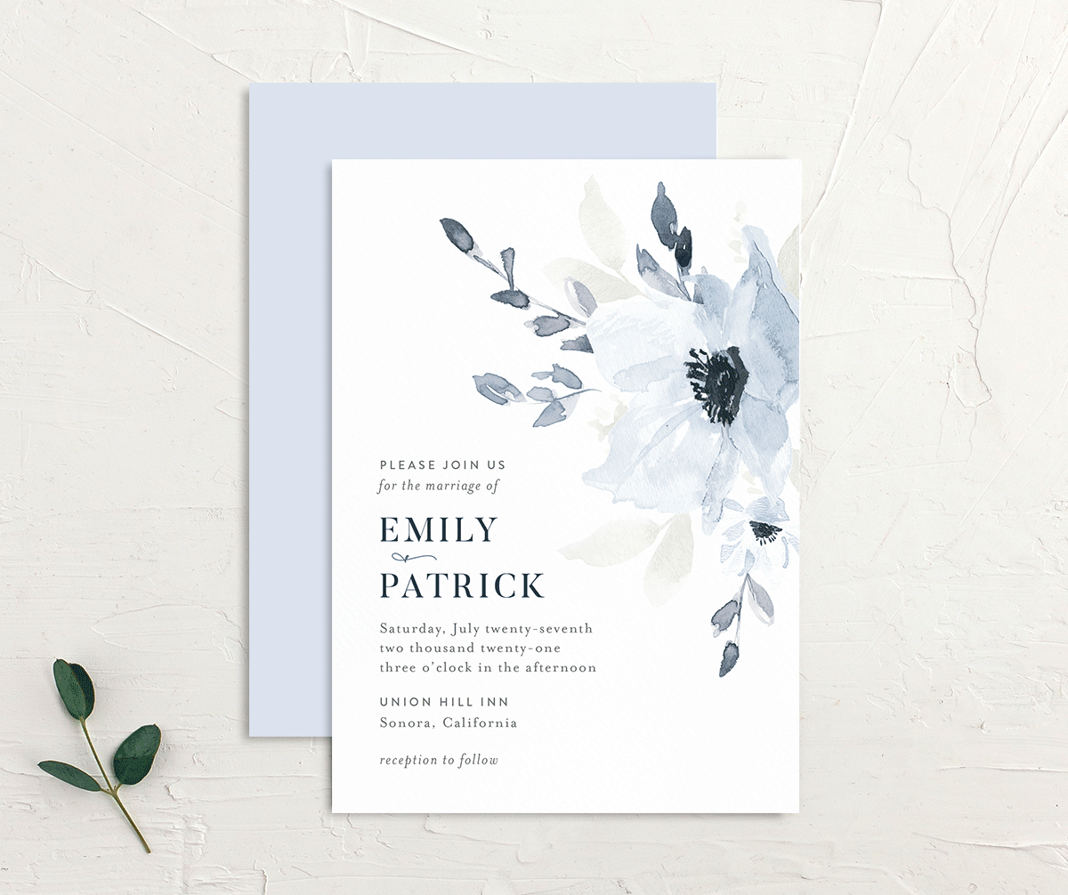 Shade of Blue Wedding Invitations