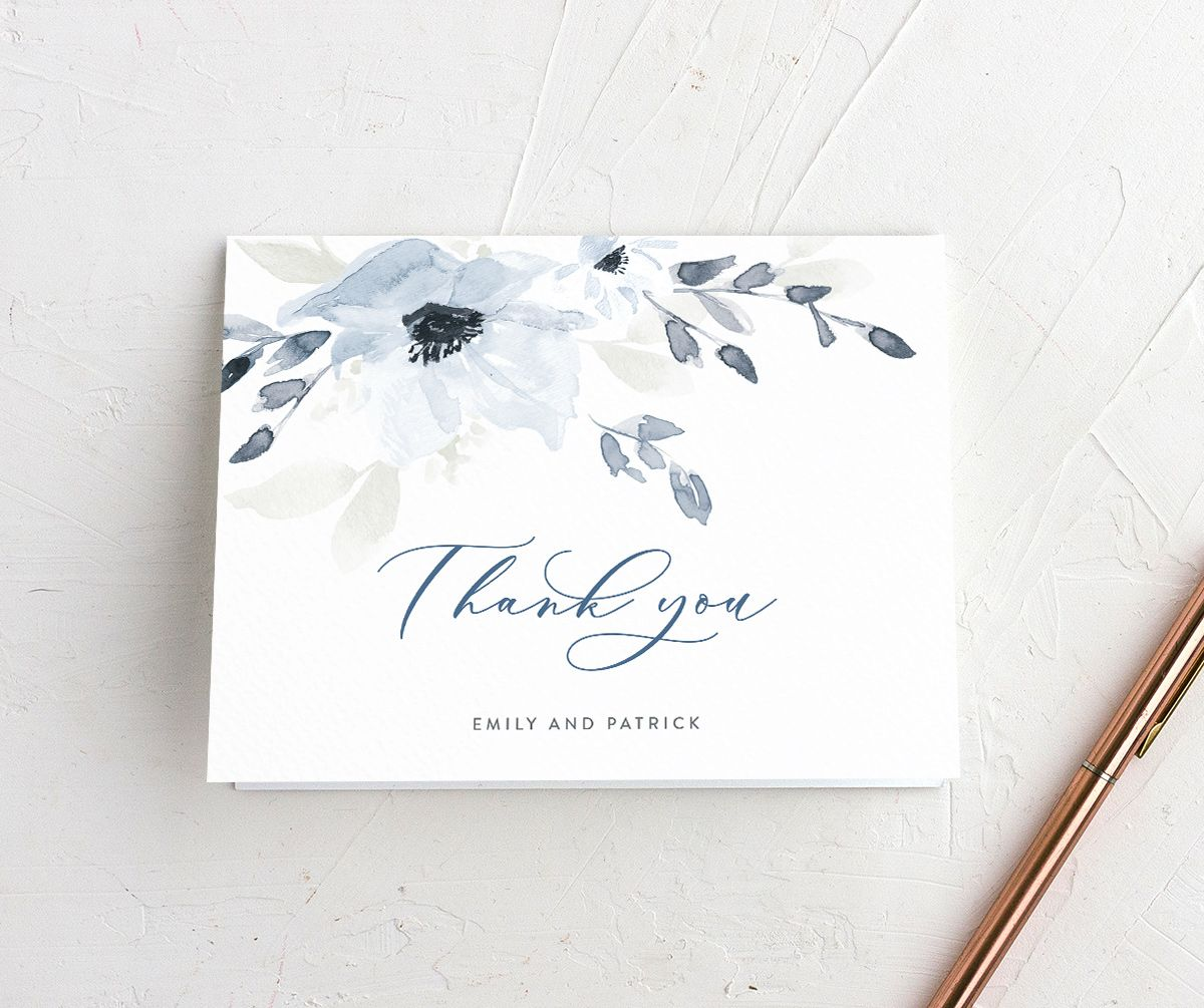 Shades of Blue Wedding Thank You Cards