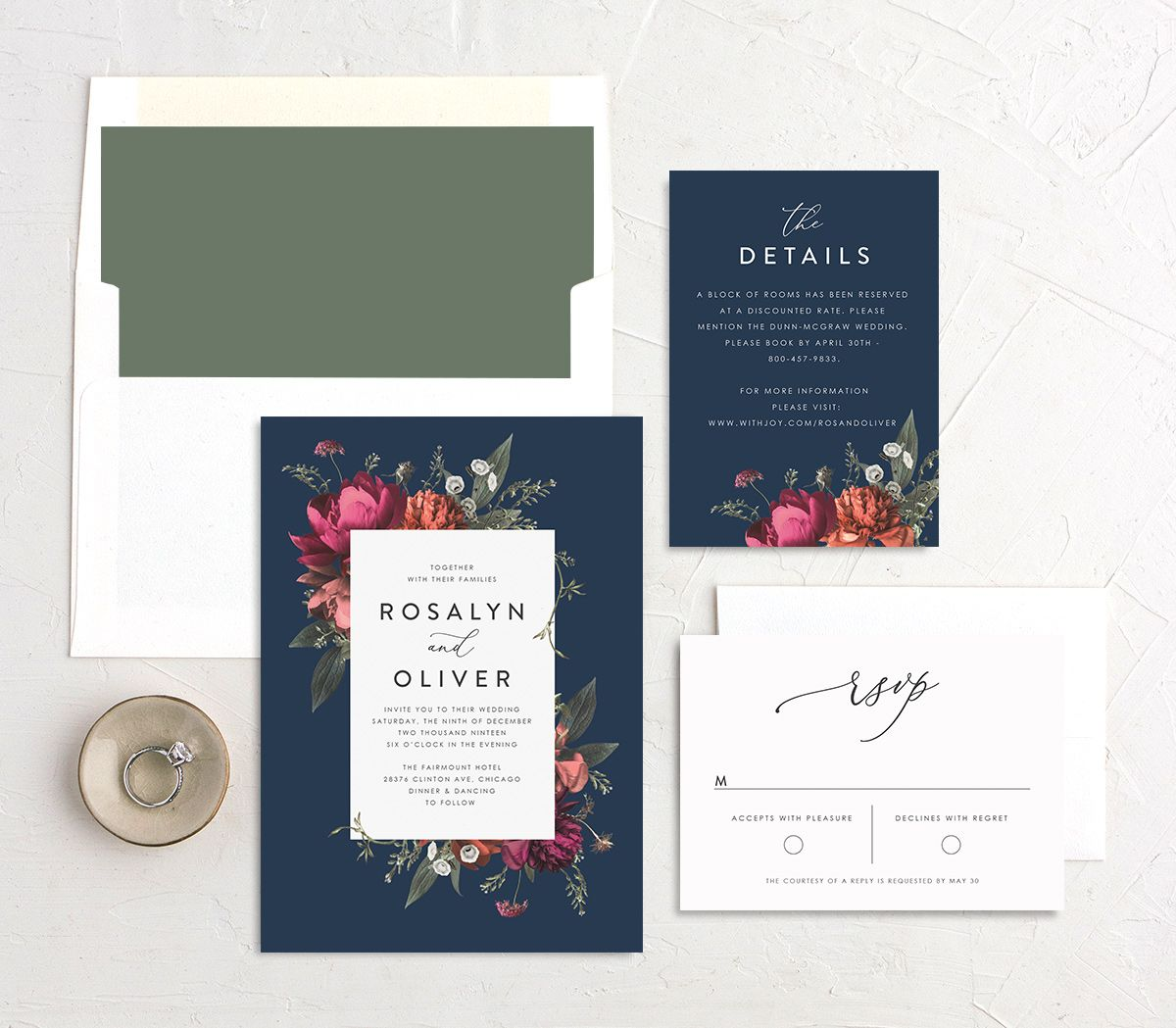 Blooming Botanical invitation suite