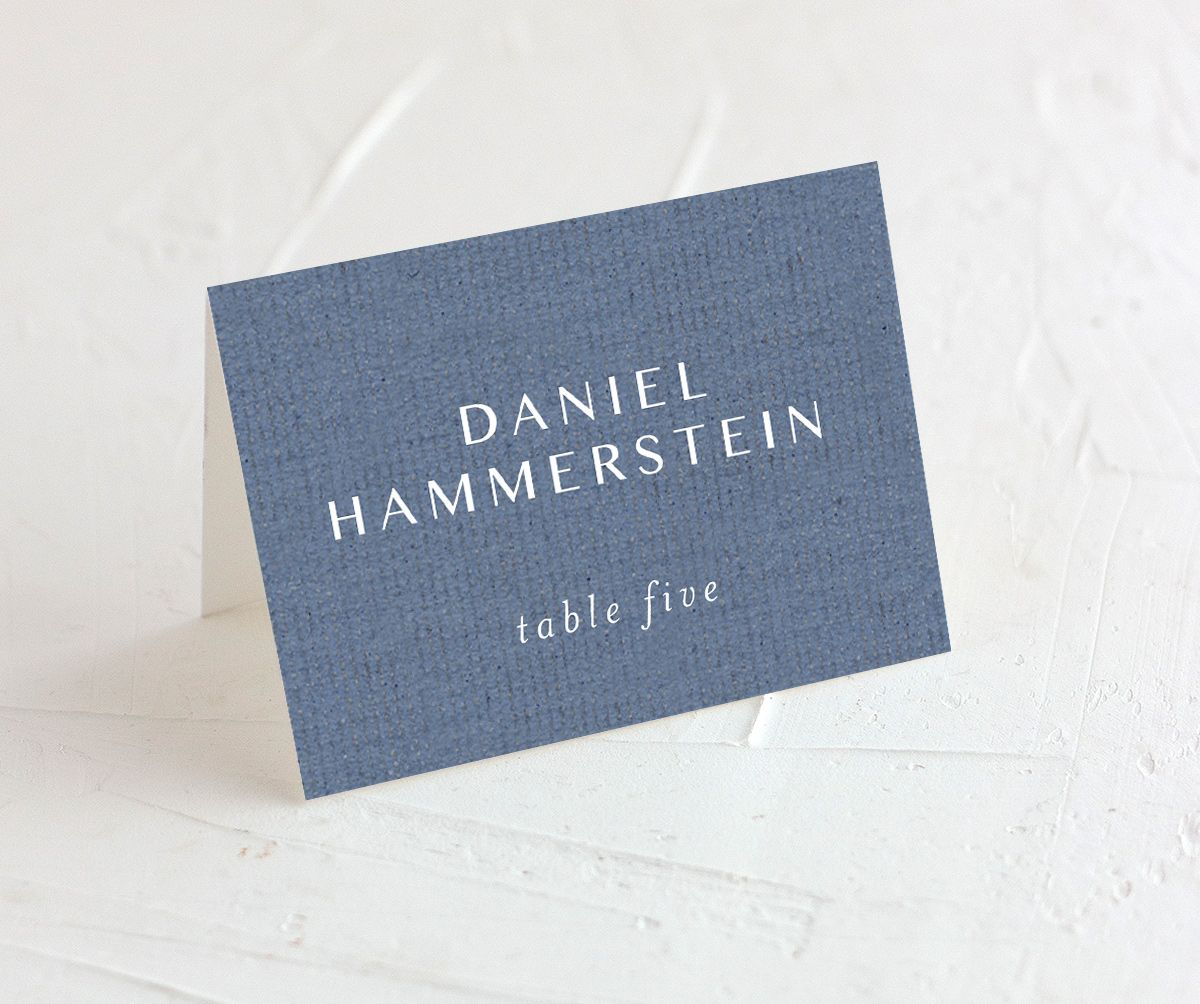 Coastal Love place cards & escort cards in blue
