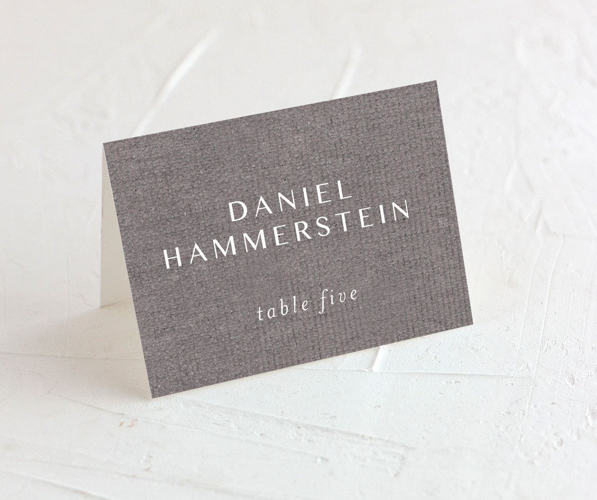 Coastal Love place cards & escort cards in grey