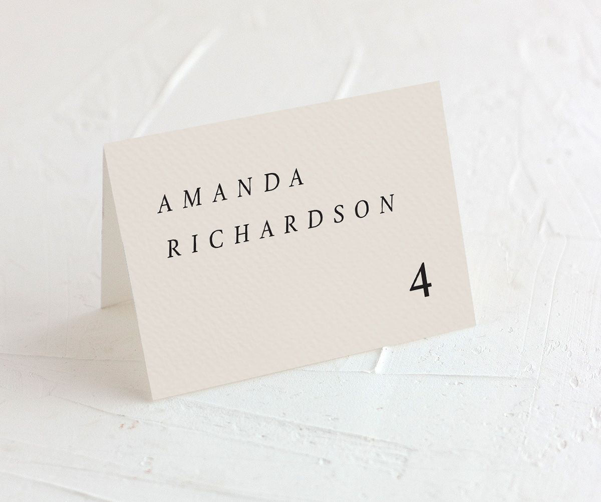 Natural Palette wedding escort cards in blue
