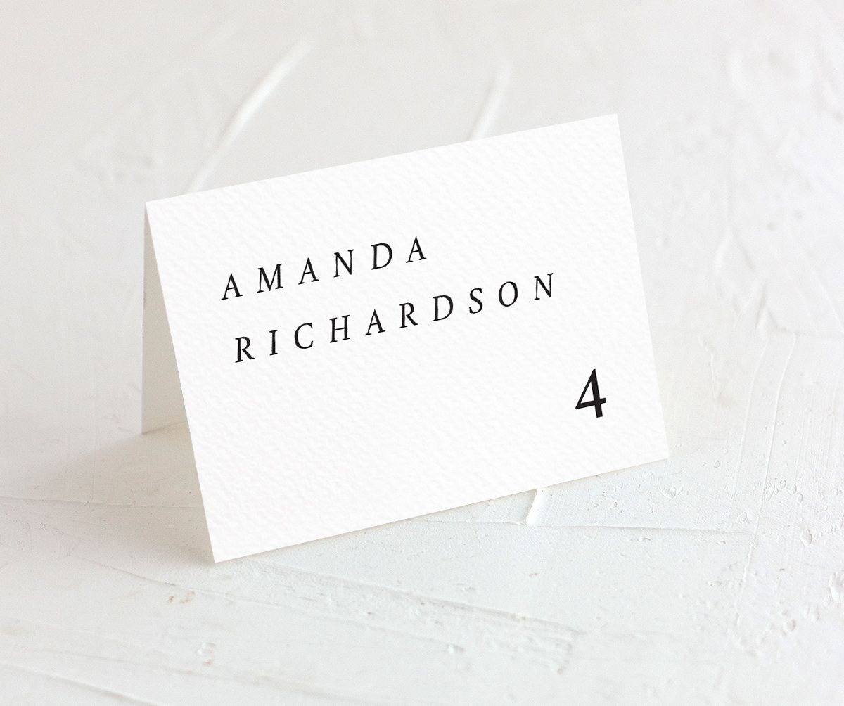 Natural Palette wedding escort cards in white