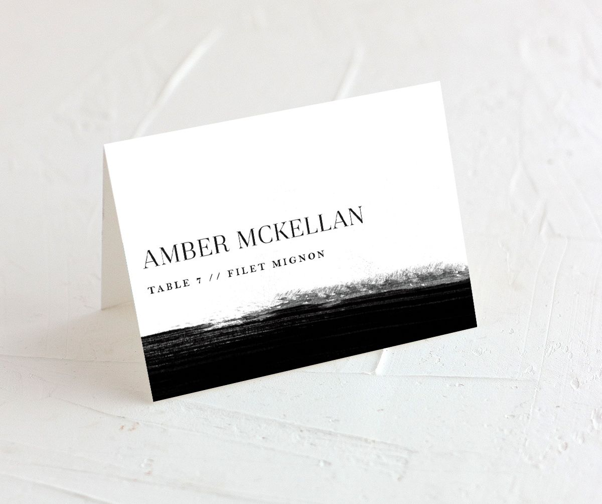 Painted Minimal wedding place cards