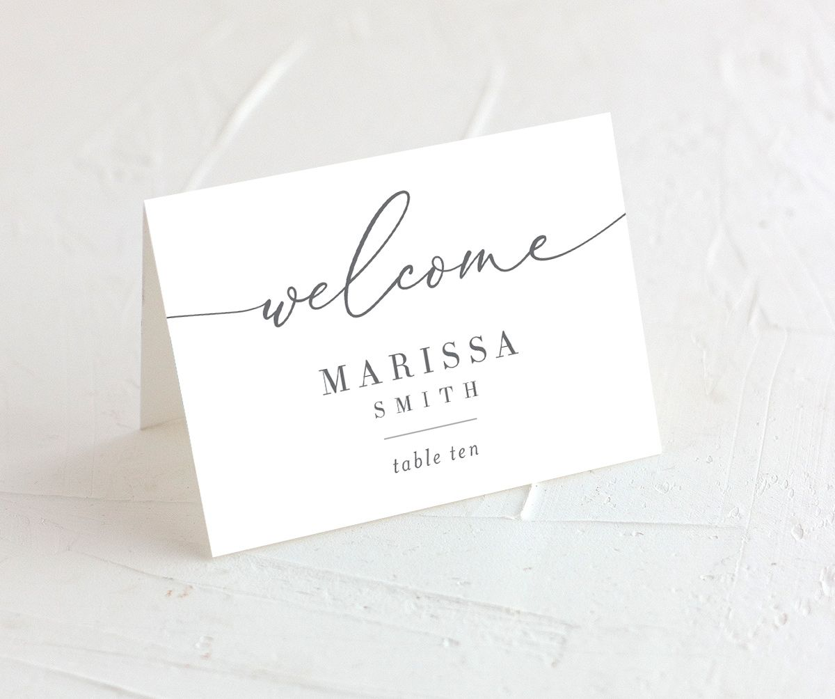 Romantic Calligraphy place cards closeup