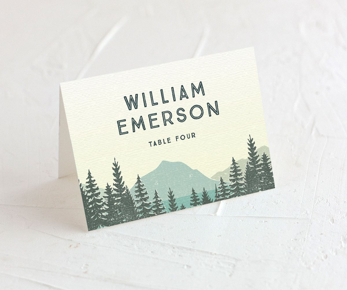 Vintage Mountain place cards & escort cards