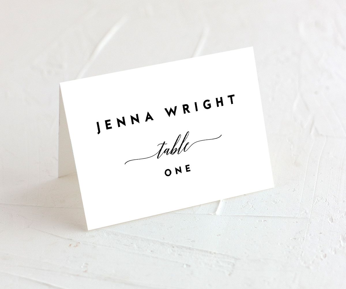 We Do Wedding Place Cards in black