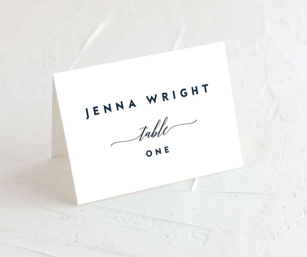 We Do Wedding Place Cards in blue