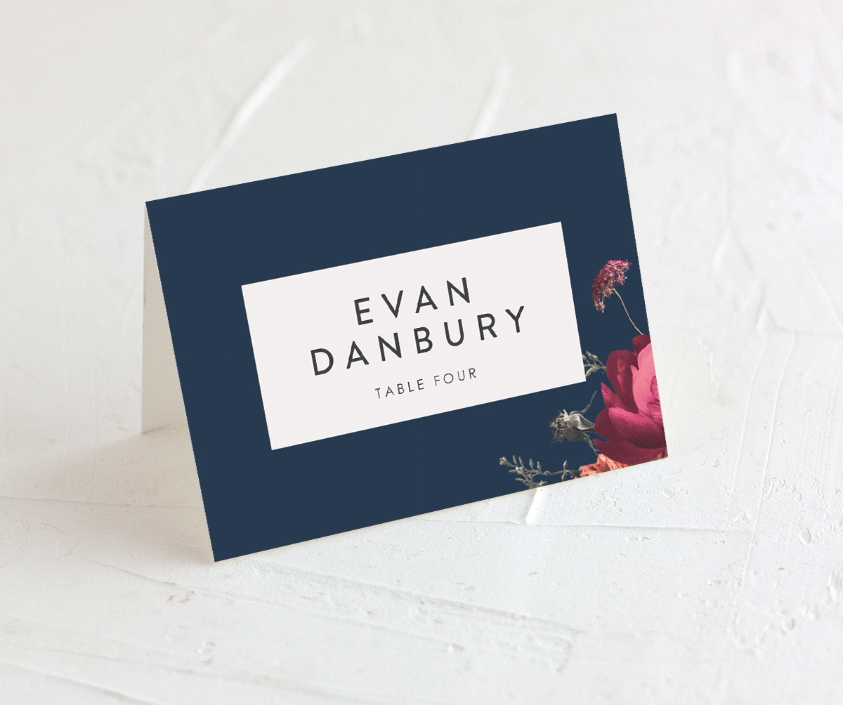 Blooming Botanical place card