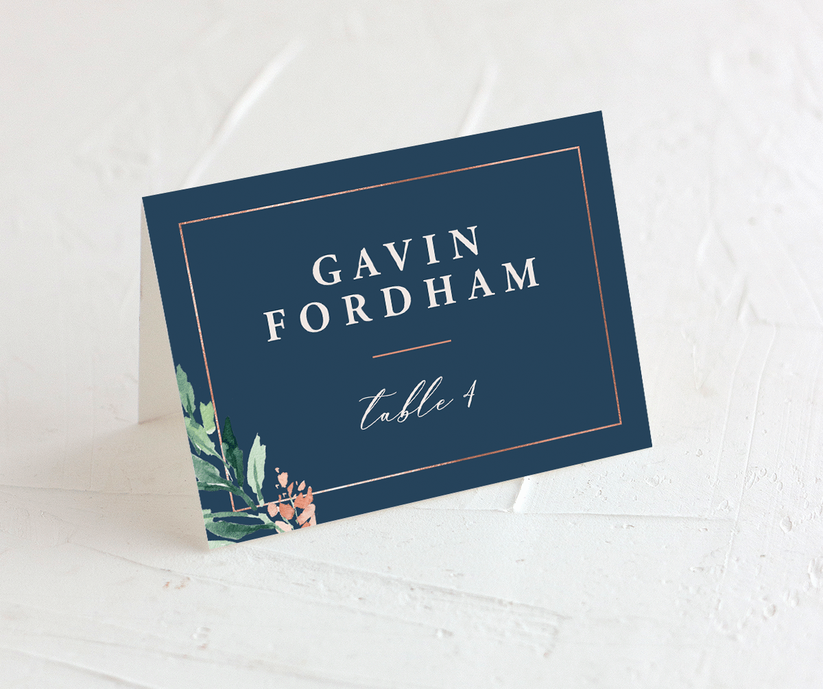 Gilded Botanical place card