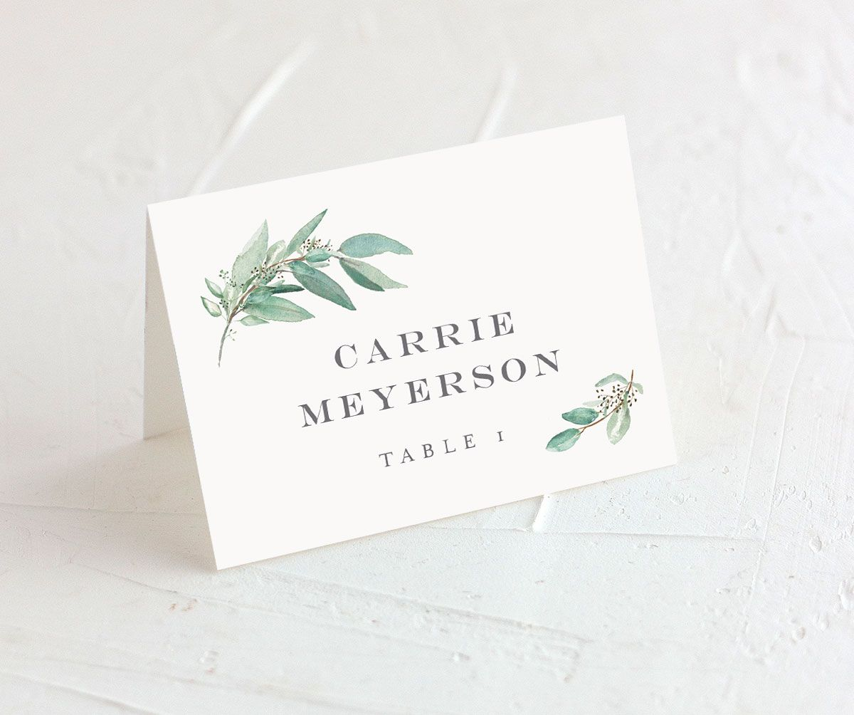 Lush Greenery place card