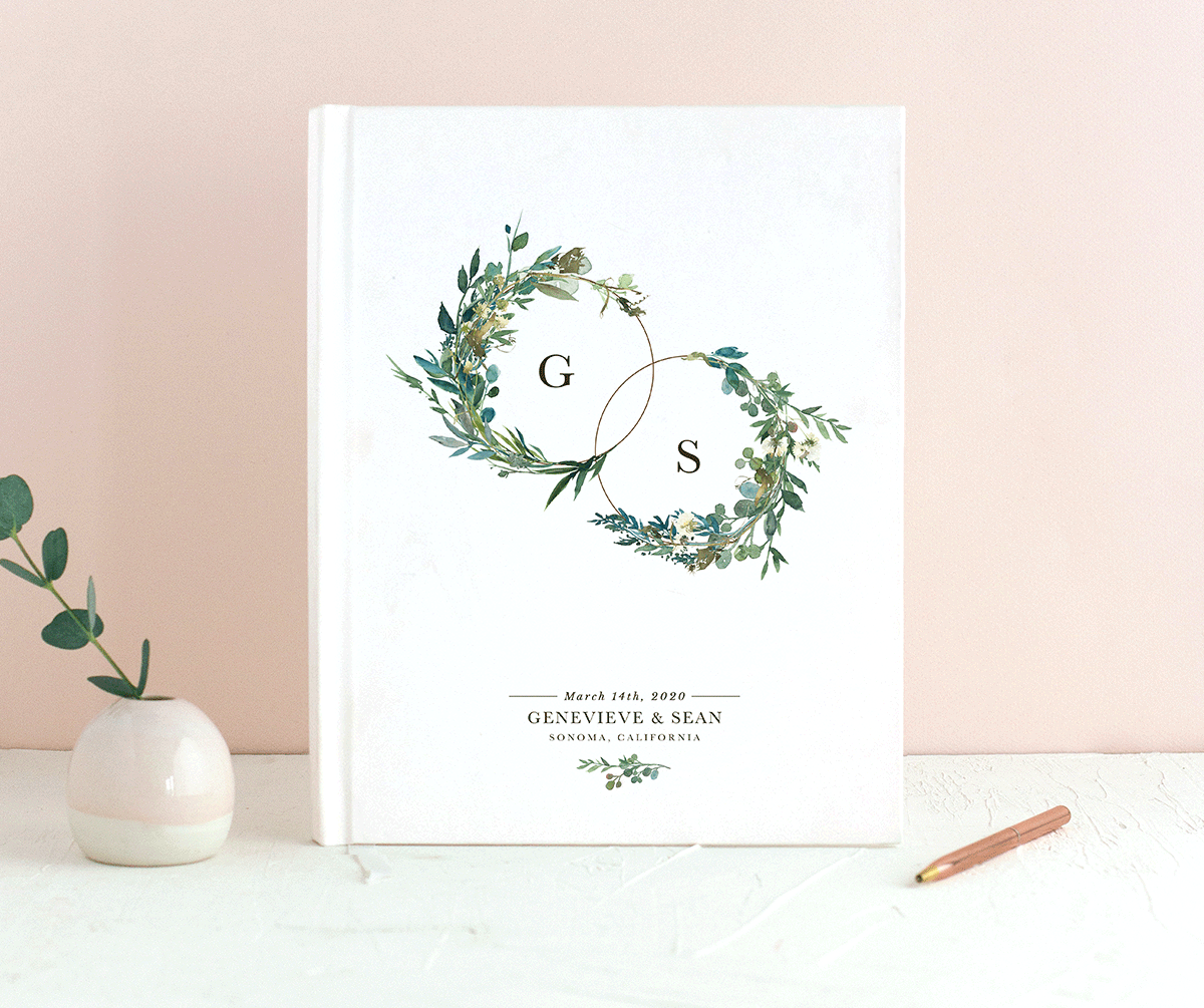 Leafy Hoops guest book