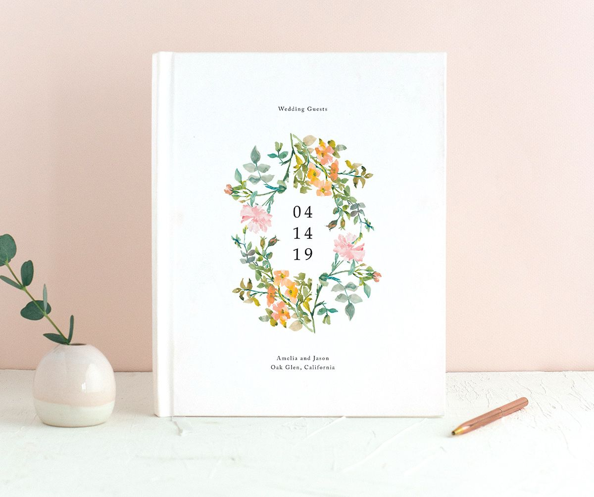 Minimal Floral guest book