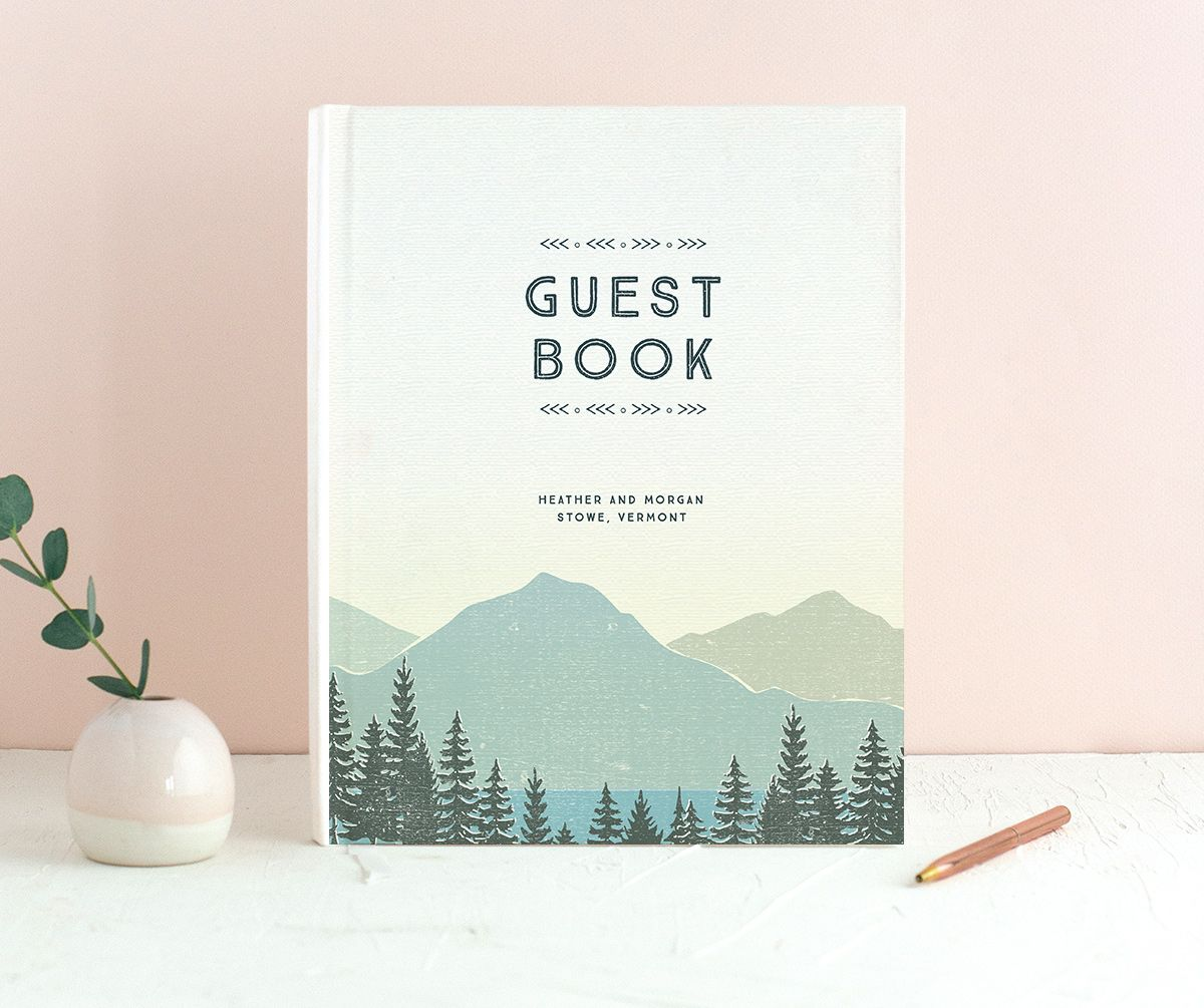 Vintage Mountain wedding guest book