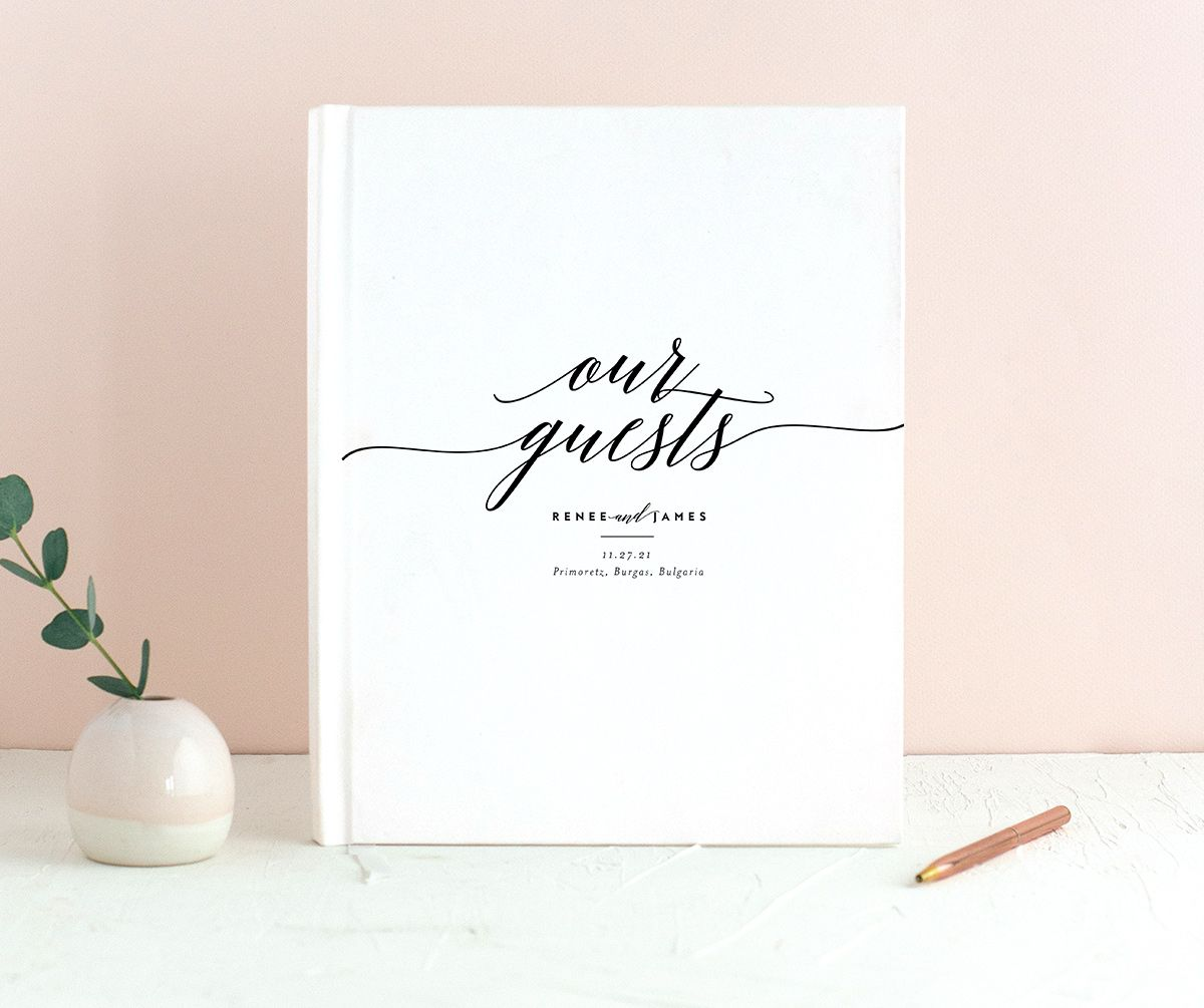 We Do Guest Book shown in black