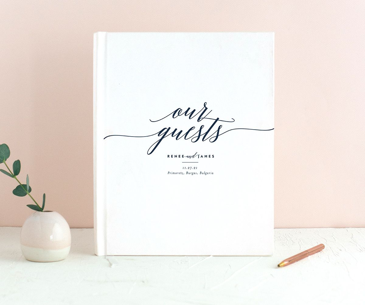 We Do Guest Book shown in navy
