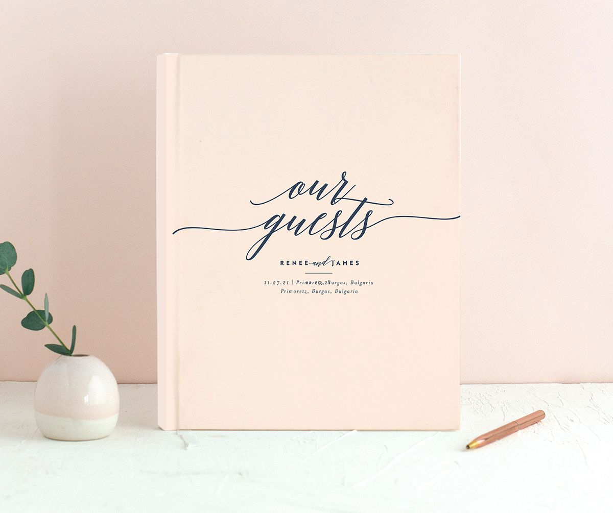 We Do Guest Book shown in pink