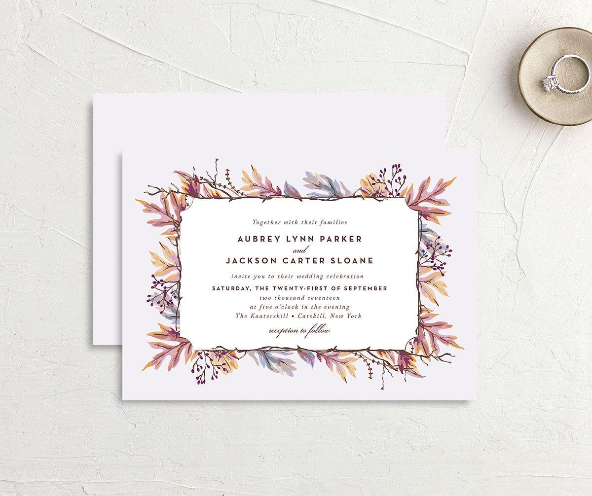 Autumn Leaves Wedding Invitations | elli