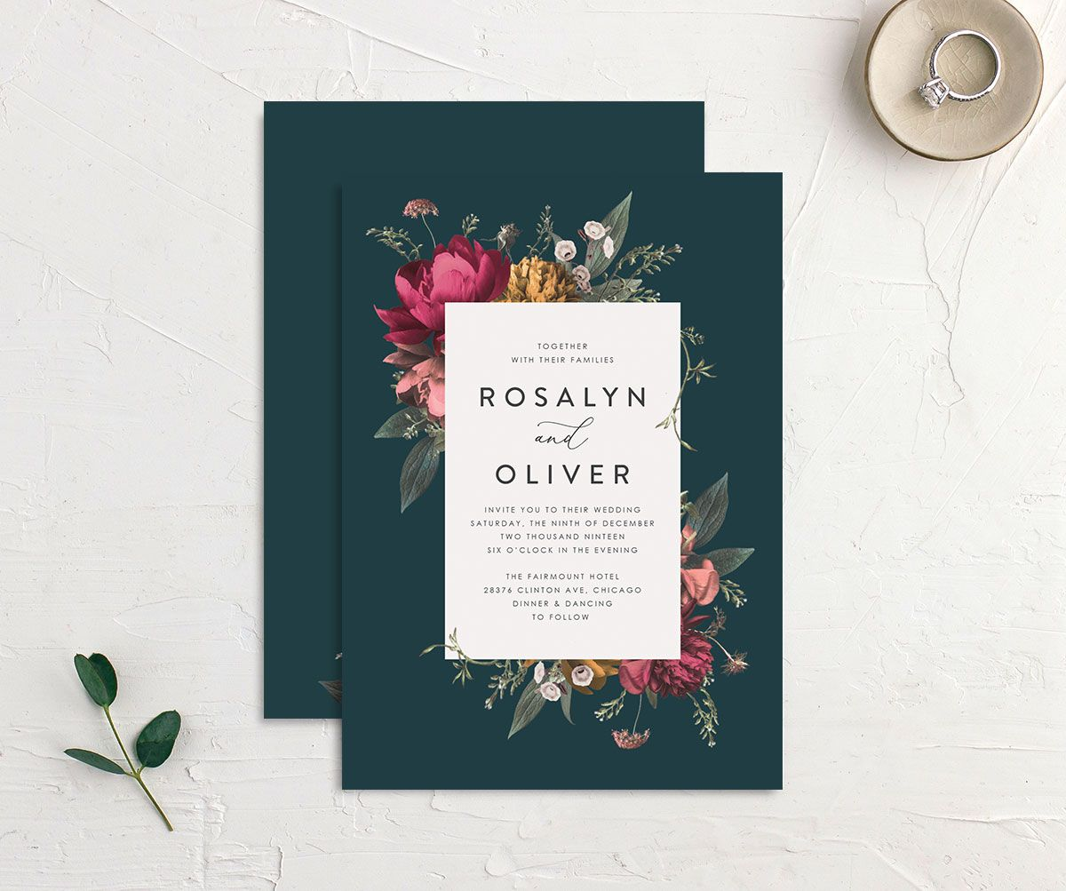 Blooming Botanical wedding invitation