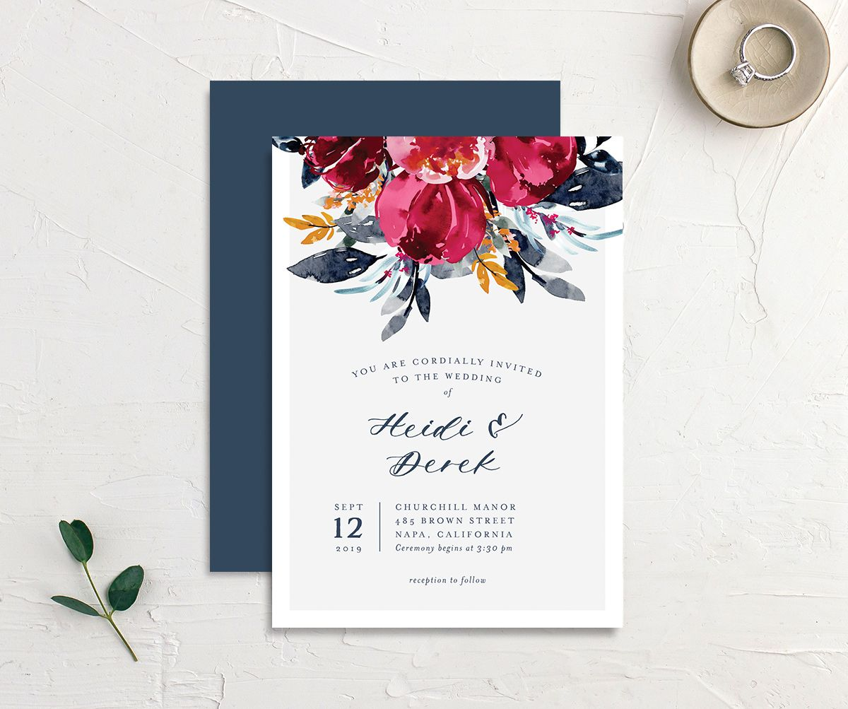 Painted Bouquet Wedding Invites