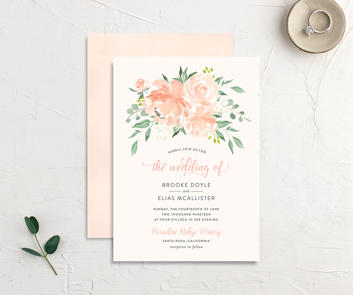 Romantic Floral Wedding Invites