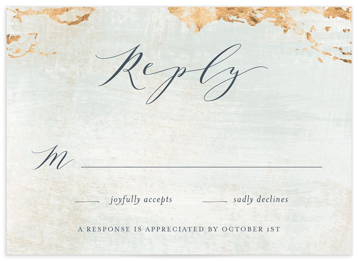 earthy organic wedding RSVP cards