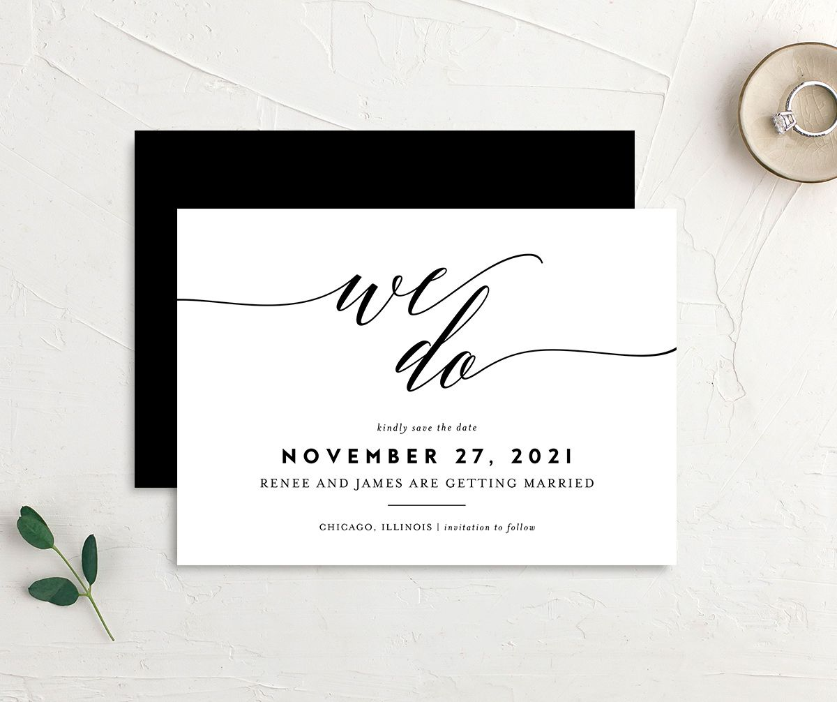 We Do Wedding Announcements in black