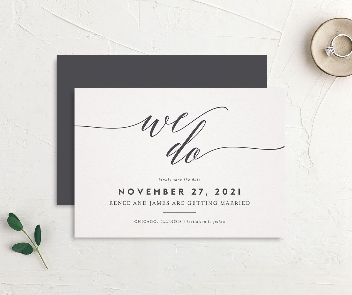 We Do Wedding Announcements in grey