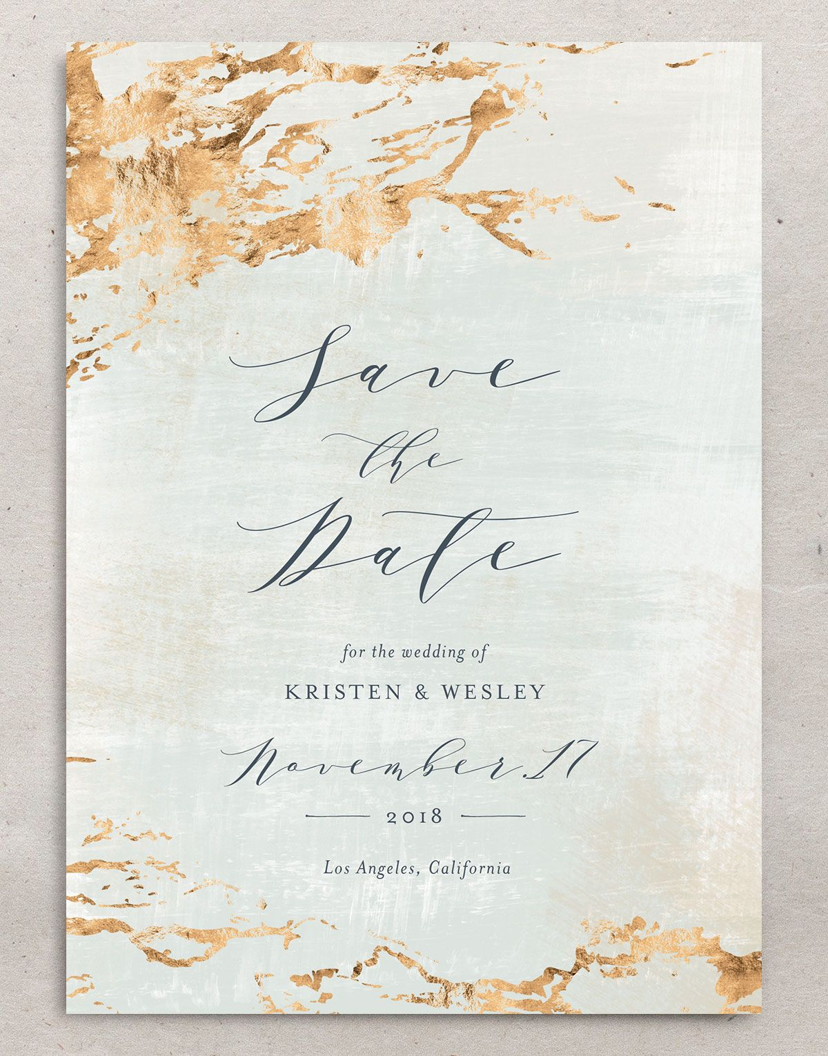 earthy organic wedding save the date card