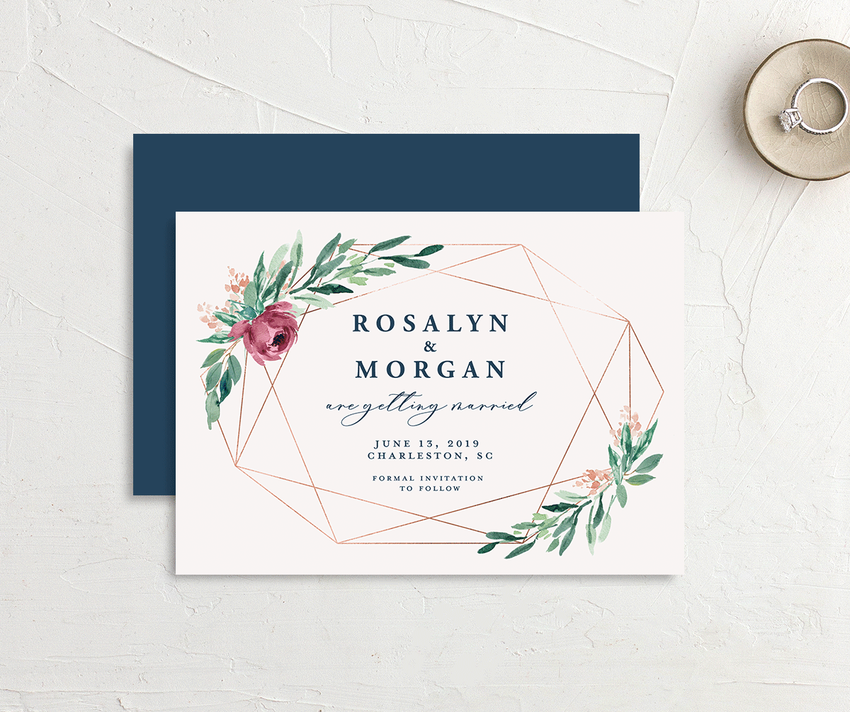 Gilded Botanical save the date