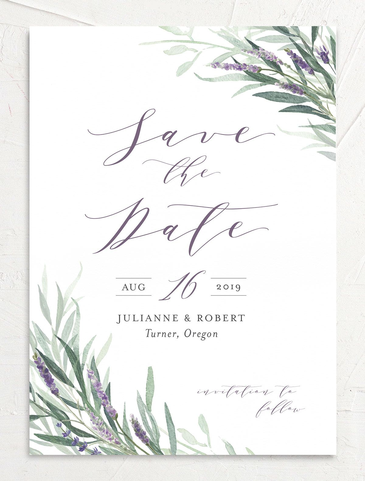 lavender sage save the date
