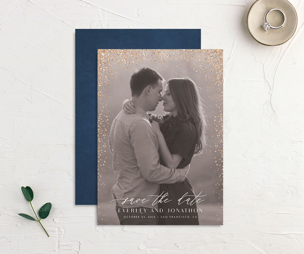 Sparkling Romance save the date