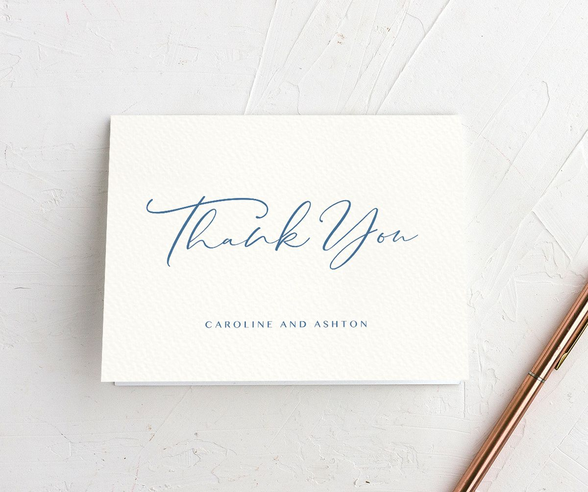 Coastal Love thank you cards in blue