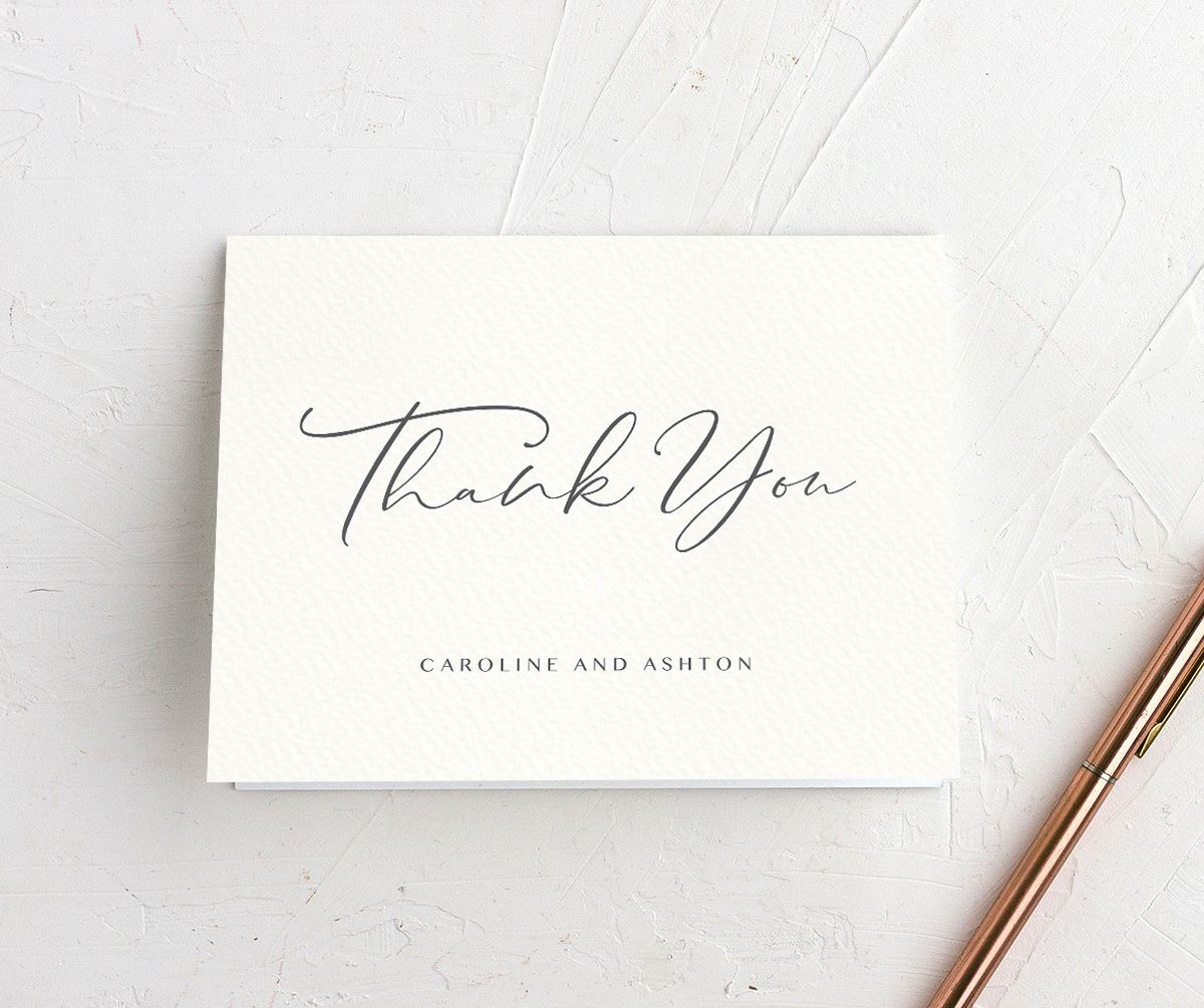 Coastal Love thank you cards in grey