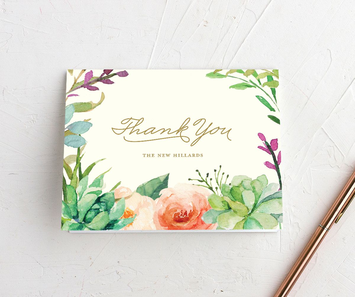 Elegant Oasis Thank You cards
