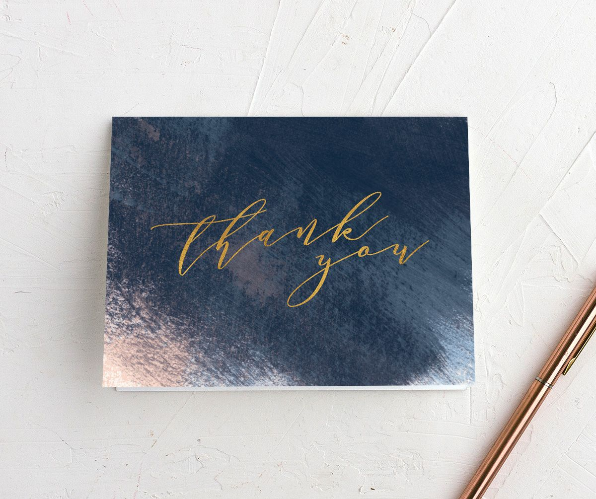 Modern Brushstroke thank you card