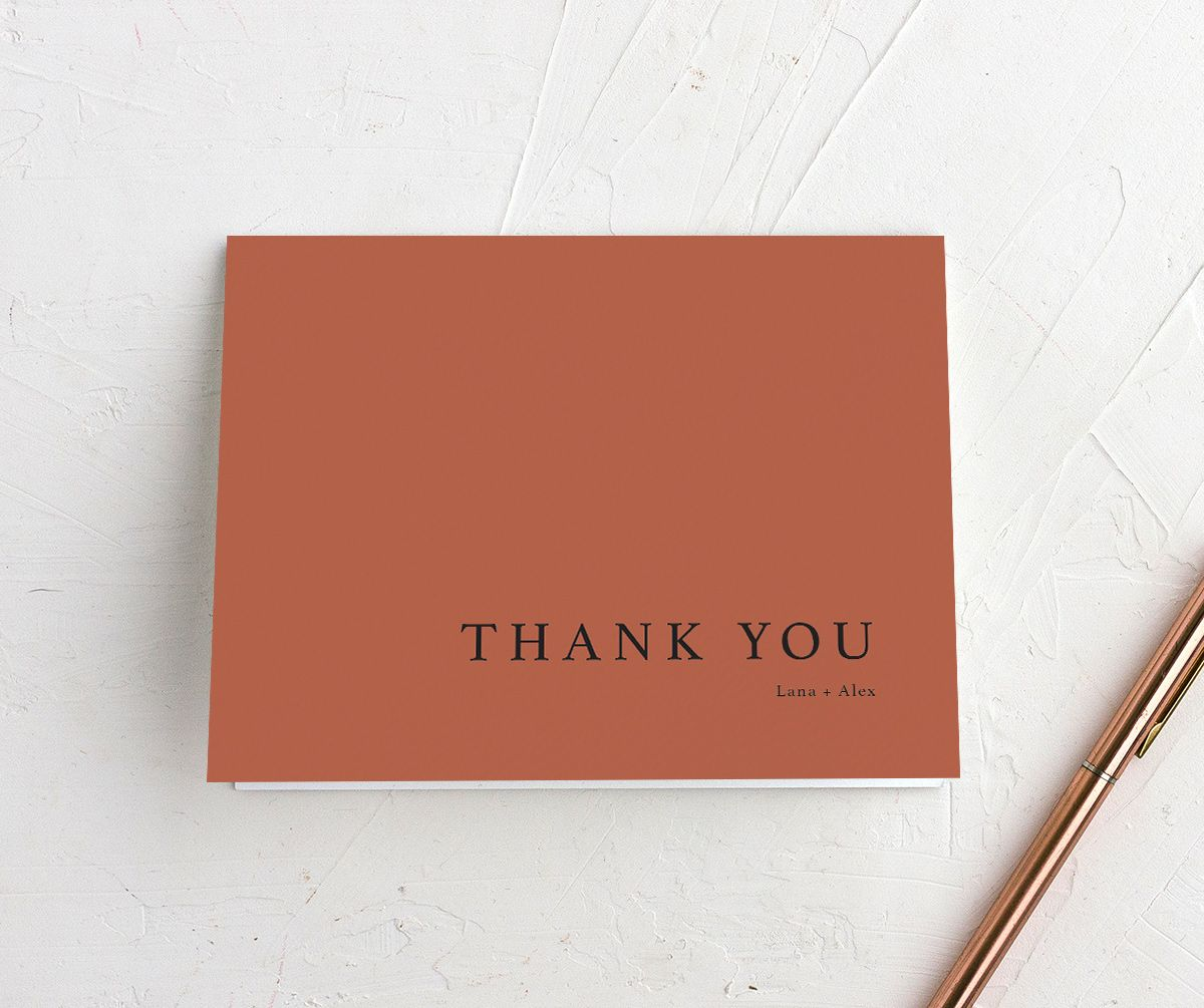 Natural Palette thank you card in pink closeup