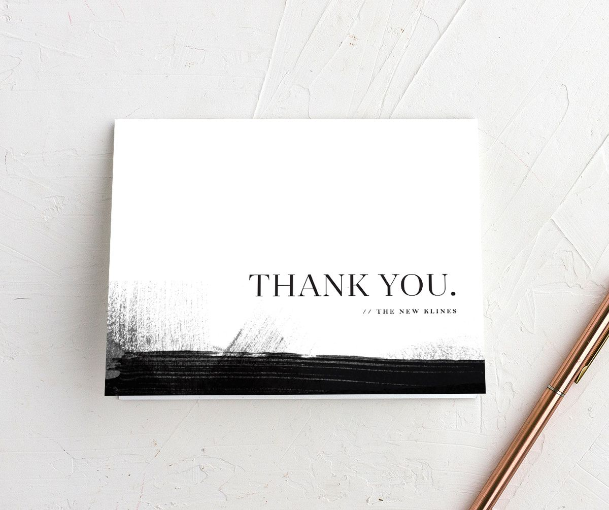 Painted Minimal thank you cards