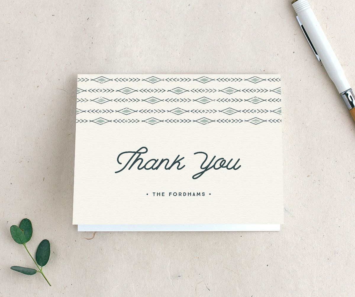 Vintage Mountain thank you card