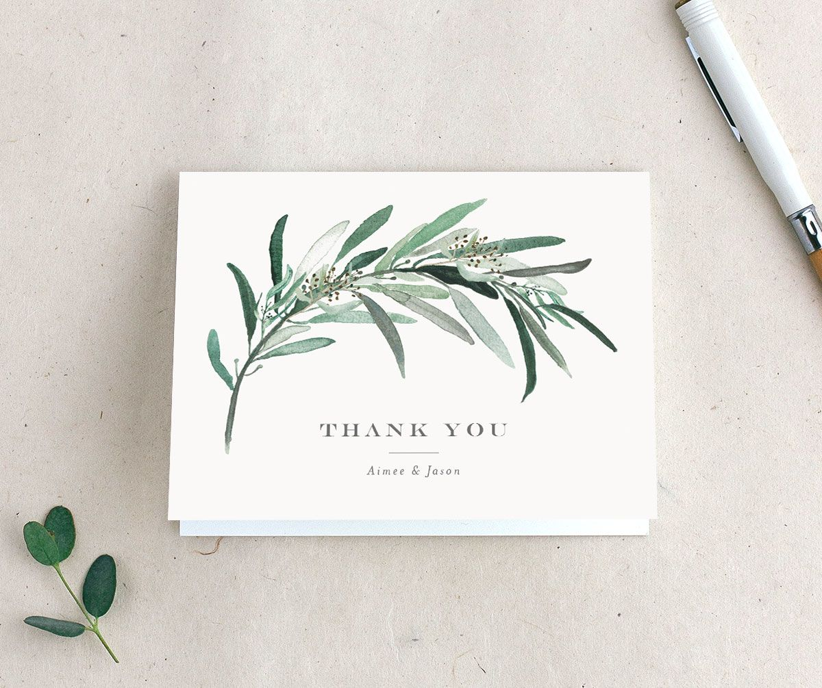 Lush Greenery thank you card