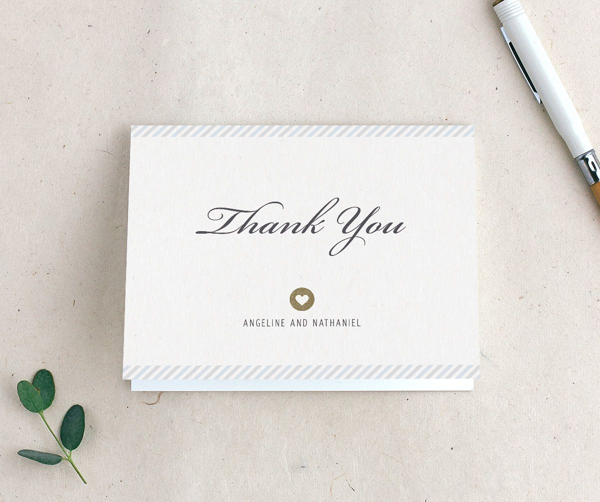 Vintage Boarding Pass thank you card blue