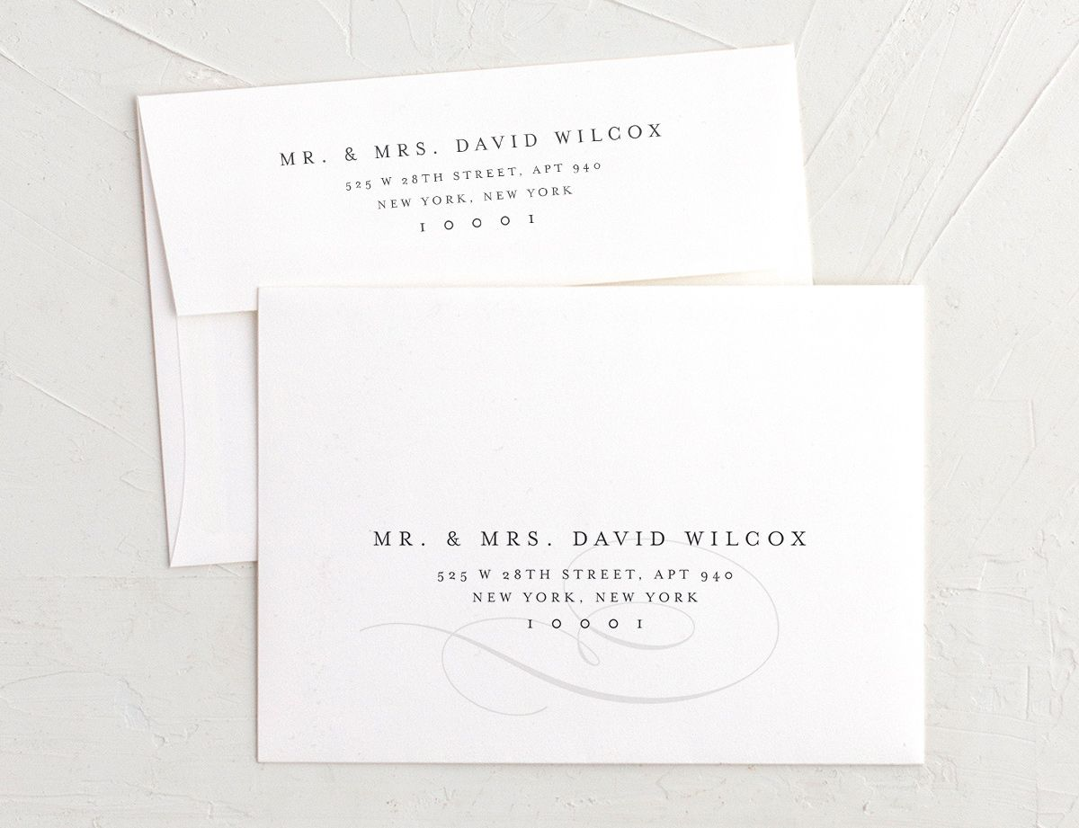 elegantly initialed recipient address printing envelopes