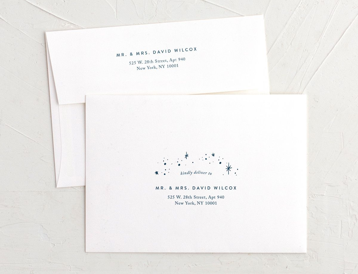 starry night recipient address printing envelopes