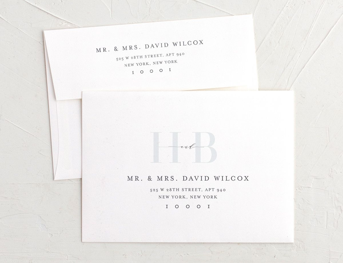 Monogram Recipient Address printing