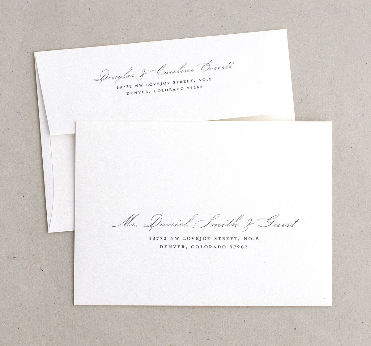 elegant paradise recipient address printing envelopes
