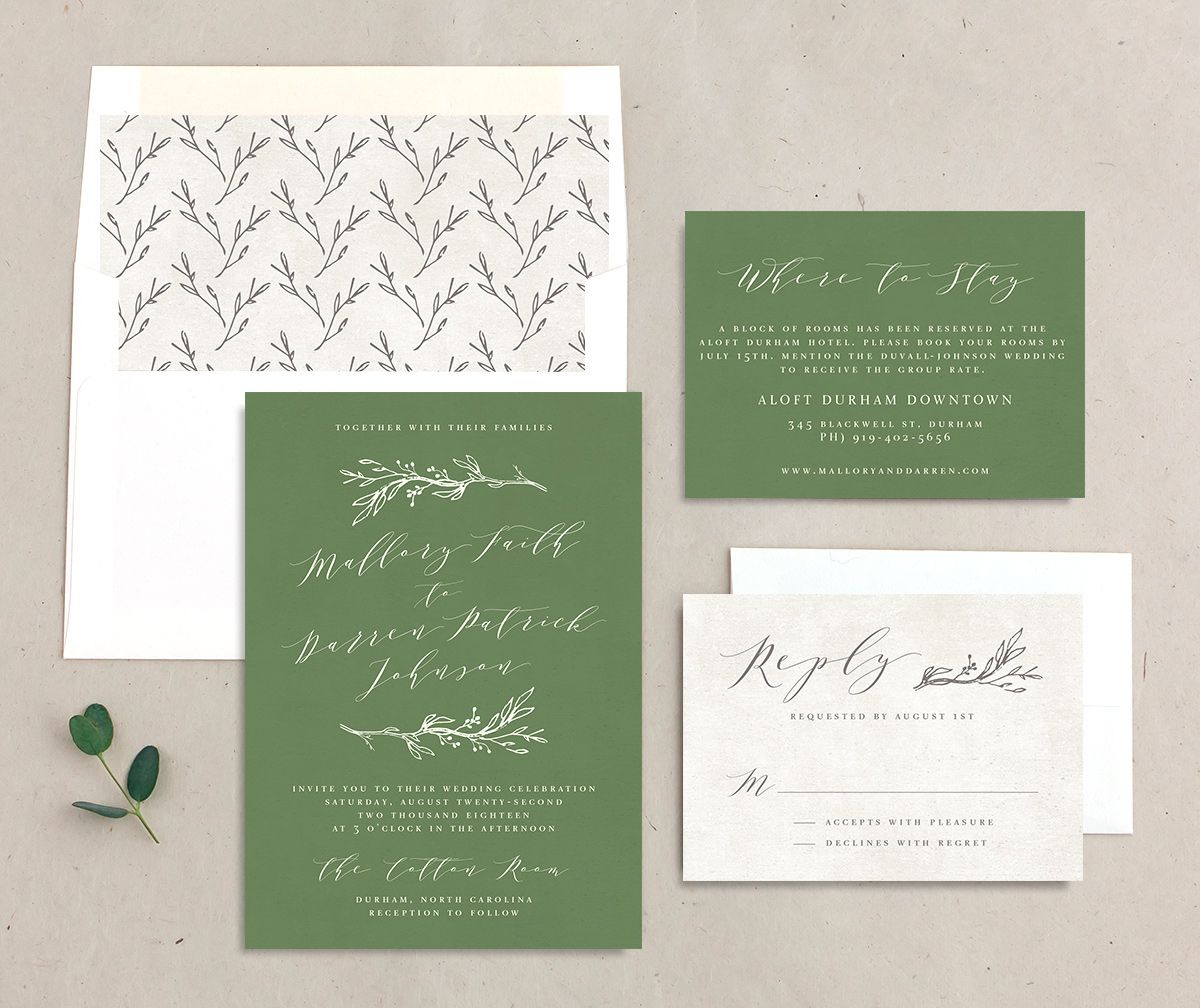 rustic elegance wedding invitation stationery suite